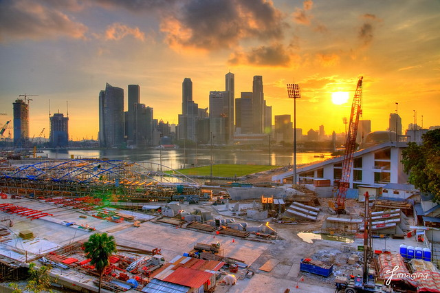 Marina Bay construction site | Flickr - Photo Sharing!