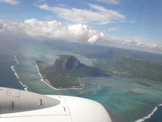 Le Morne from the air