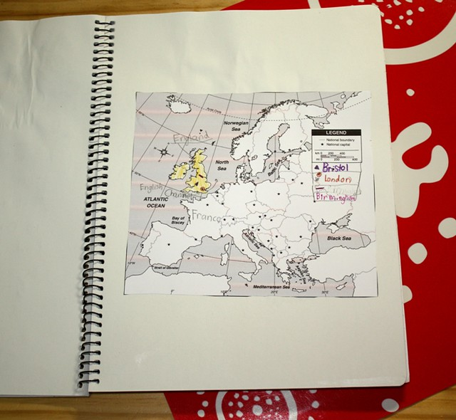 BF history of horse notebook map of Europe