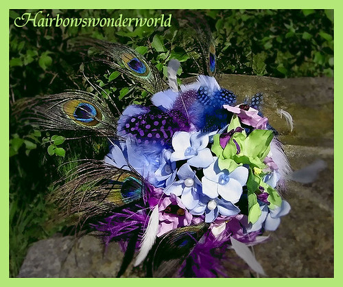peacock bridal bouquet 9