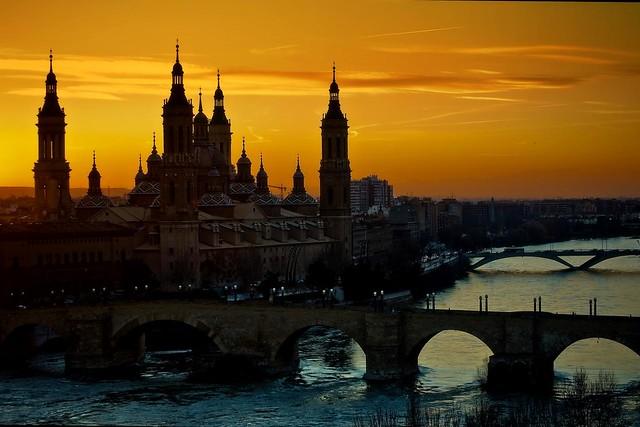 Autumn Sunset in Zaragoza Spain! Explored!!!!