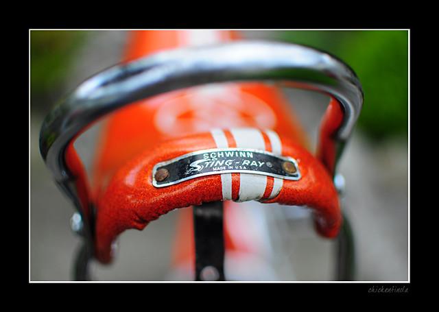 f9e624b937c Schwinn 1969 Orange Krate | Original Seat and badge.. Small … | Flickr