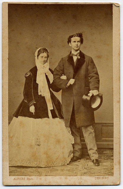 Ludwig II. King Of Bavaria With His Fiancée Sophie ...