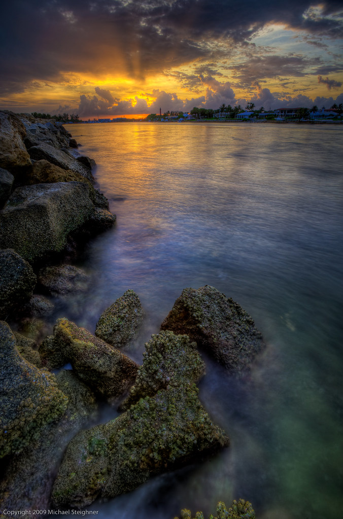Sunset at the Jupiter Inlet by MDSimages.com