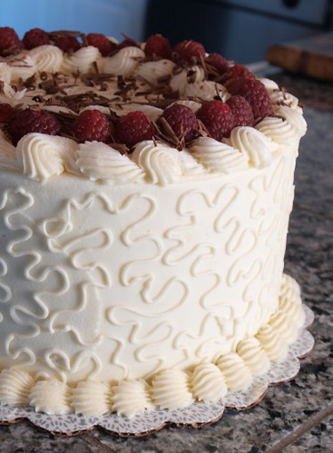 Chocolate Raspberry Cake Decoration : Raspberry and Chocolate Ganache Cake with White Chocolate ...