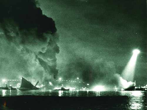Tanker Fire, LA Harbor