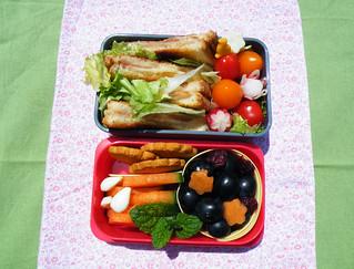Bento 6: sandwich fleuri
