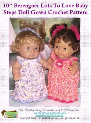 885 Berenguer Lil' doll outfit crochet PATTERN by MarinaMandarina