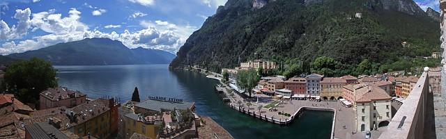 Riva Del Garda Italy Wide Angle Dual Screen Wallpaper