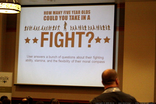 slide   how many five year olds could you take in a fight?   sleazy linkbait panel   sempdx searchfest 2009    MG 9690