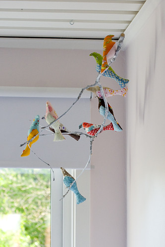 Bird mobile in Elin's room