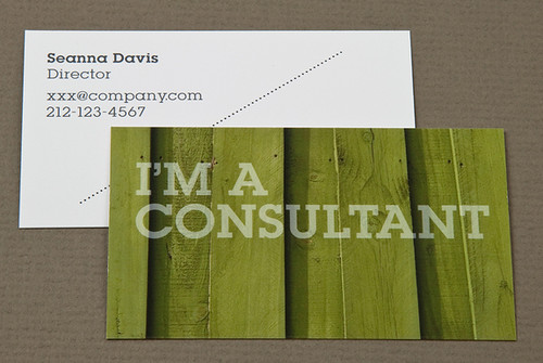 Home Maintenance Business Card with Green Wood