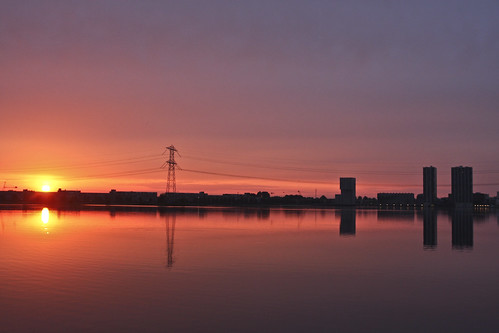 Sunset in Almere..
