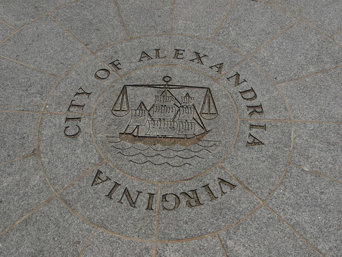 Alexandria city seal in wayfinder