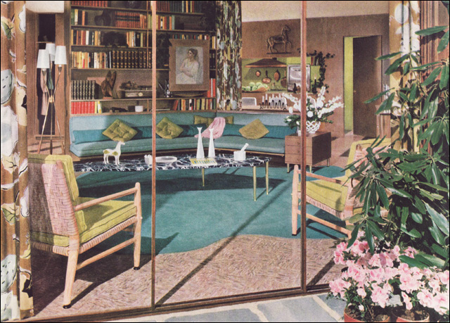 1950s mid century living room this was an ad for for 1950s apartment design