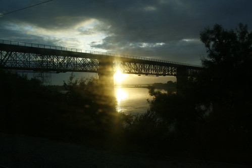 sol sunrise ponte santarém nascer