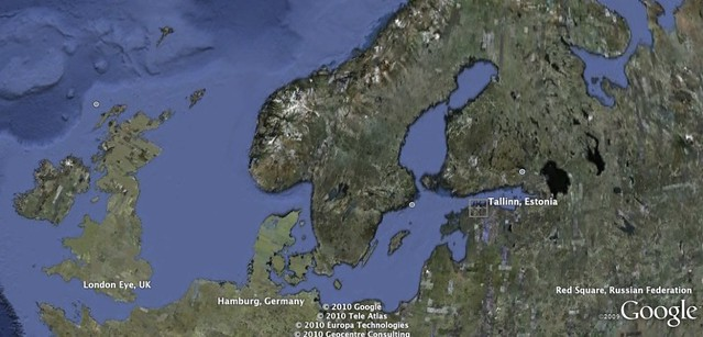 Estonia on Google Earth