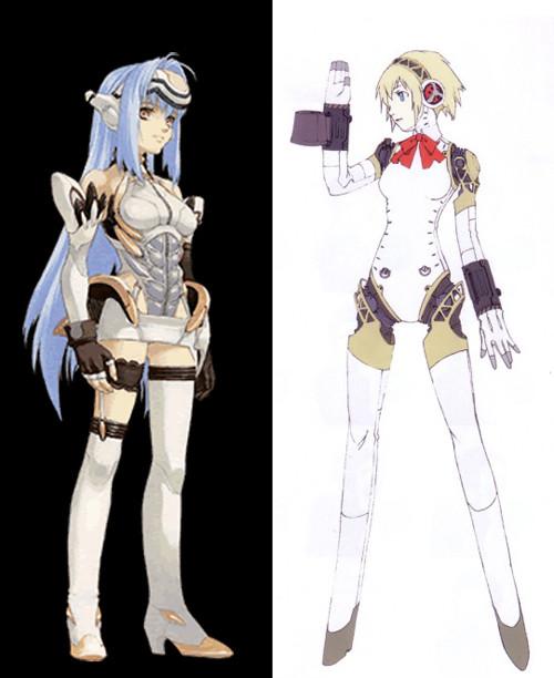 Xenosaga Character Design : Character design big shapes vs small details