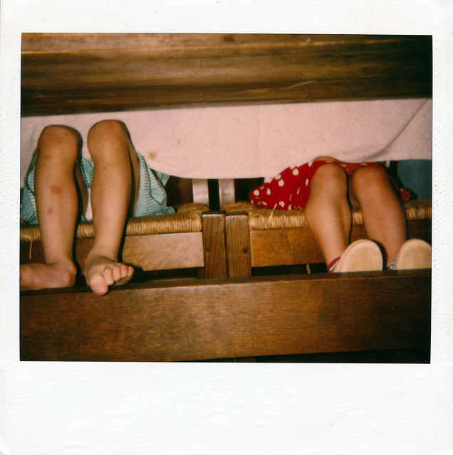 Legs Under Table : Legs of two little girls under dining table  Flickr - Photo Sharing!