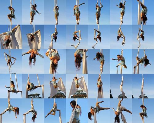 Danza aerea acrobatica