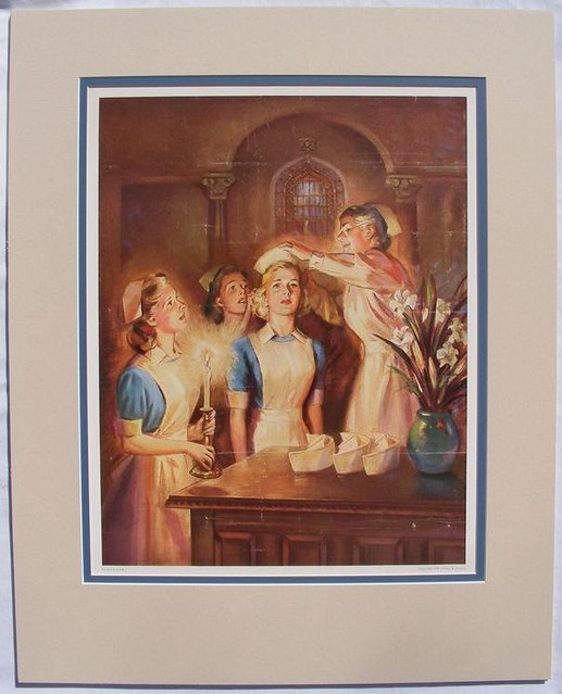 Nurse Capping Ceremony - Johnson & Johnson Print 1949