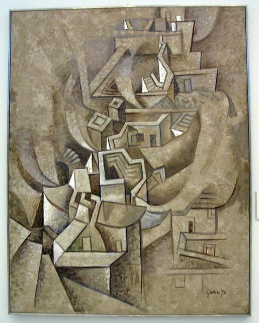 """Houses in a Dry Landscape"" (1978) - Hatzikyriakos-Ghikas Nikos"