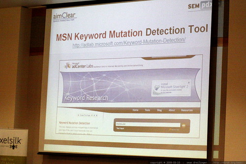 3346561642 3447b3e4f3 slide   msn keyword mutation detection tool   Online Reputation Management   sempdx searchfest 2009    MG 9342