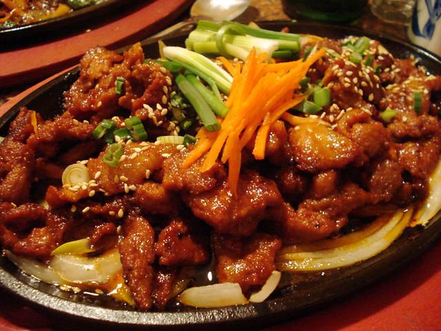 spicy pork bulgogi   country korean restaurant   By: stumptownpanda ...