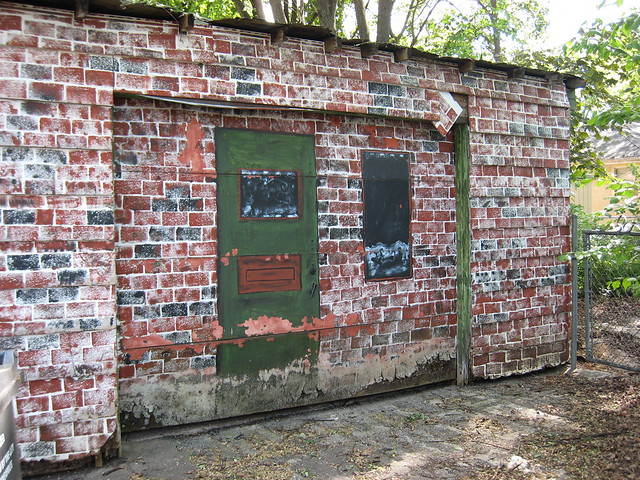 Faux brick garage front flickr photo sharing for Front door hennepin county