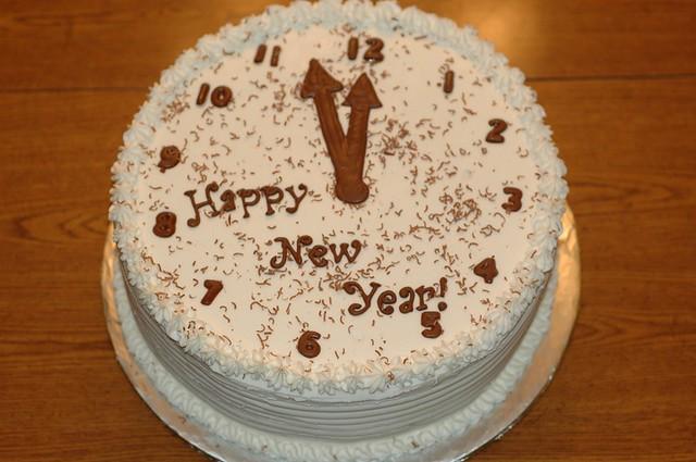 Украсить торт новый год фото
