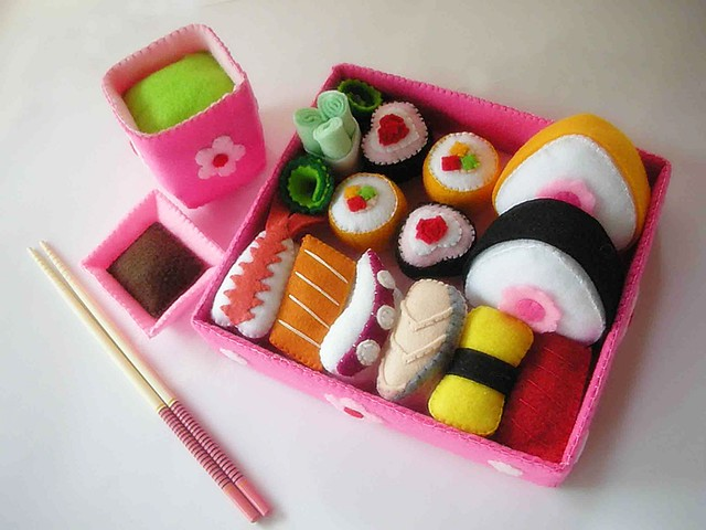 Lovely Japanese Sushi Set, Nikon COOLPIX S7