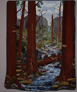Crossing Calamity Creek. Textile Art Quilt