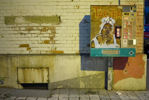Cigarette machine around the corner