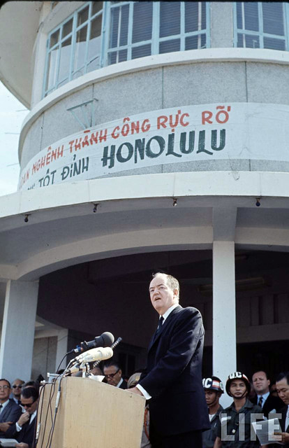 4 U.S. Vice President Hubert Humphrey visits Vietnam - 1966