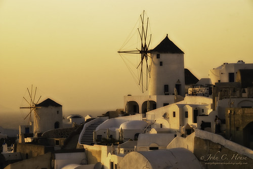 Santorini Sunset- Oia Windmills