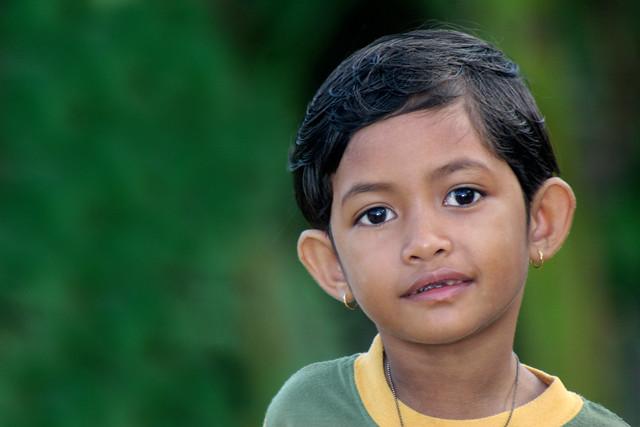 Portrait of an Indonesian girl in Irian Jaya.