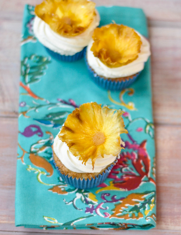 ... and Good Food: Hummingbird Cupcakes with Dried Pineapple Flowers