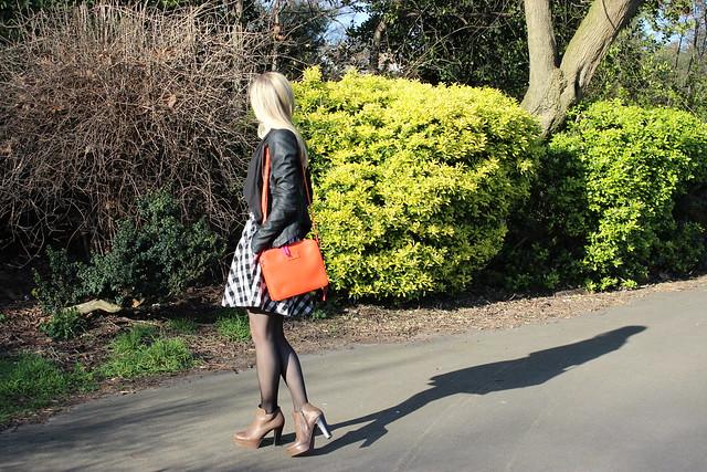 britannika victoria park orange handbag