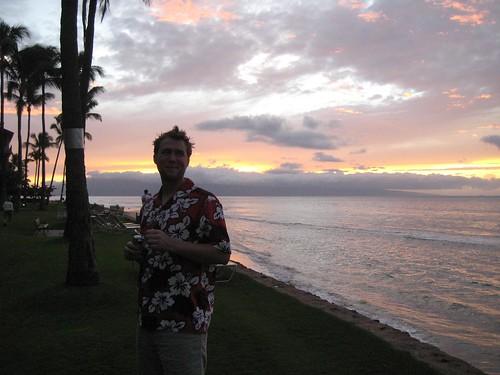 Tim framed by sunset