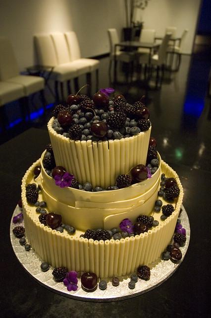 White Chocolate Wedding Cake With Fruit