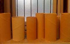 orange, yellow, wood, cylinder,