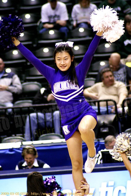Northwestern Cheerleaders 0550 2009 Women's Big Ten ...