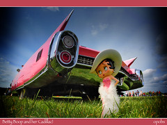 Betty Boop and her Cadillac!