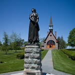 Statue of Evangeline and Memorial Church, Grand-Pré, Nova Scotia