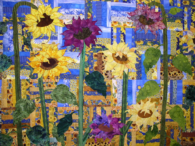 made magnificent s amish wall photo sunflower quilt pages hanging smartly quilts bouquet