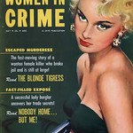 "True Cases of WOMEN IN CRIME Magazine (July 1954)  - THE BLONDE TIGRESS ... ""We"