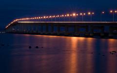 san mateo bridge at night - desktop background wallpaper