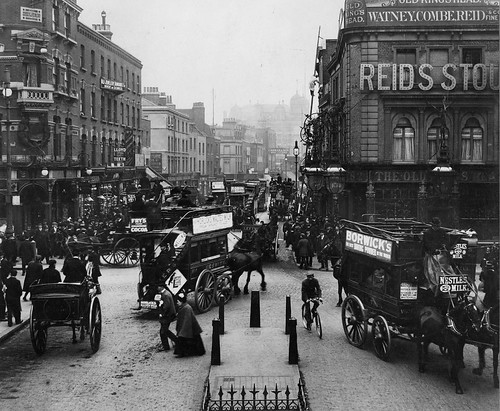 Junction of Tottenham Court Road and Euston Road in 1904