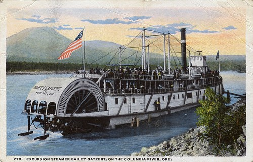 Excursion steamer, Bailey Gatzert, on the Columbia River