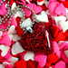 red glitter heart resin necklace... pretty as Dorothy's ruby slippers